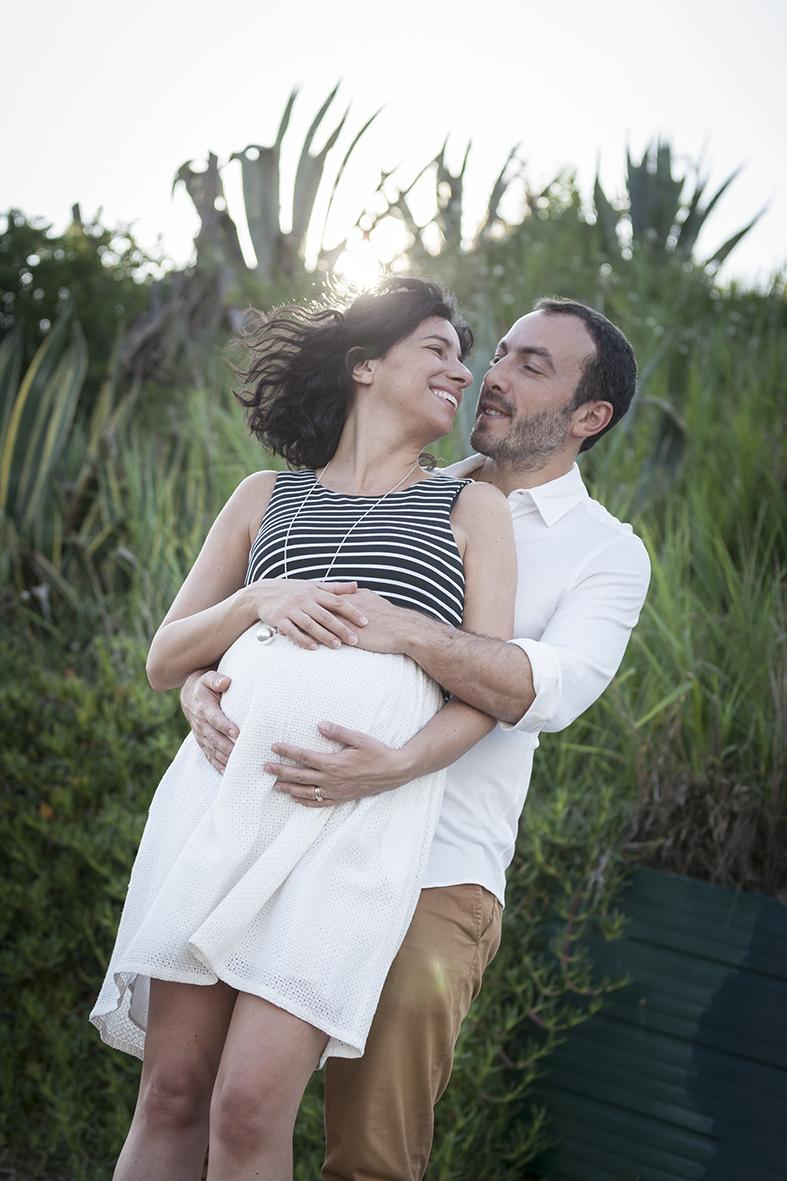 foto di coppia durante la gravidanza