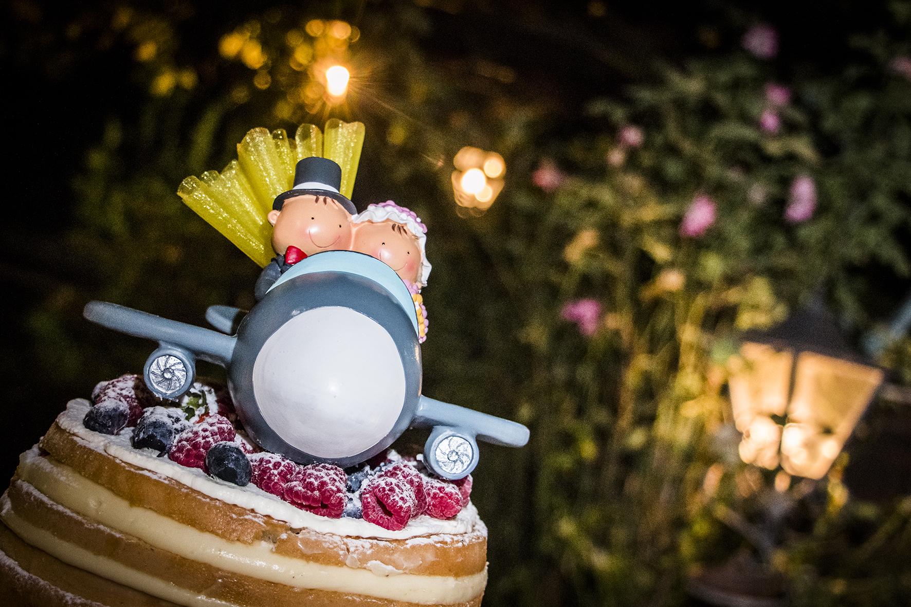 cake topper matrimonio a tema viaggio