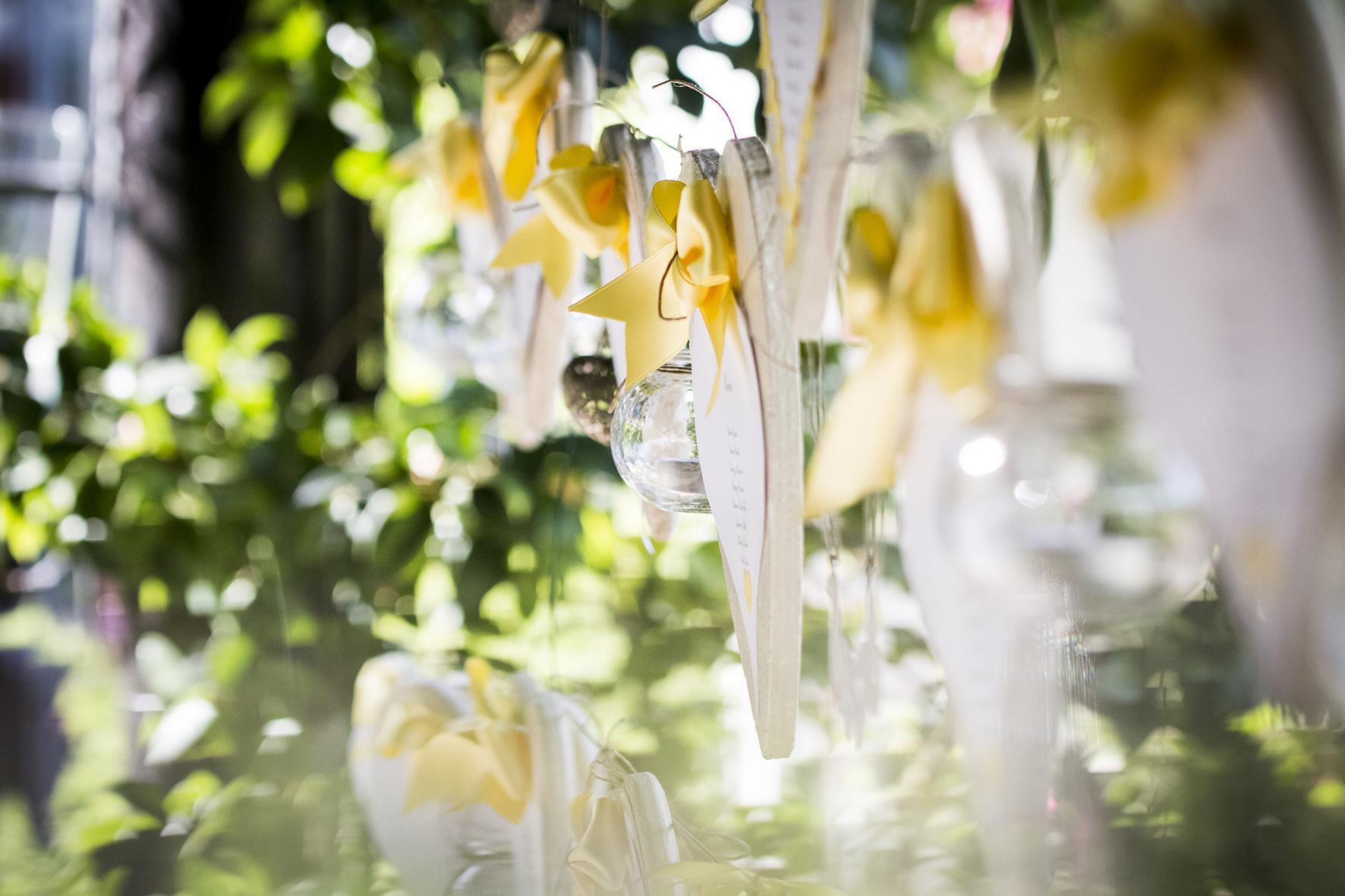 matrimonio a tema colore tableau mariage giallo