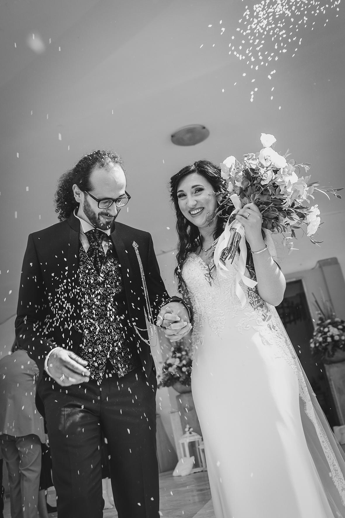 post produzione foto di matrimonio da colore a bianco e nero