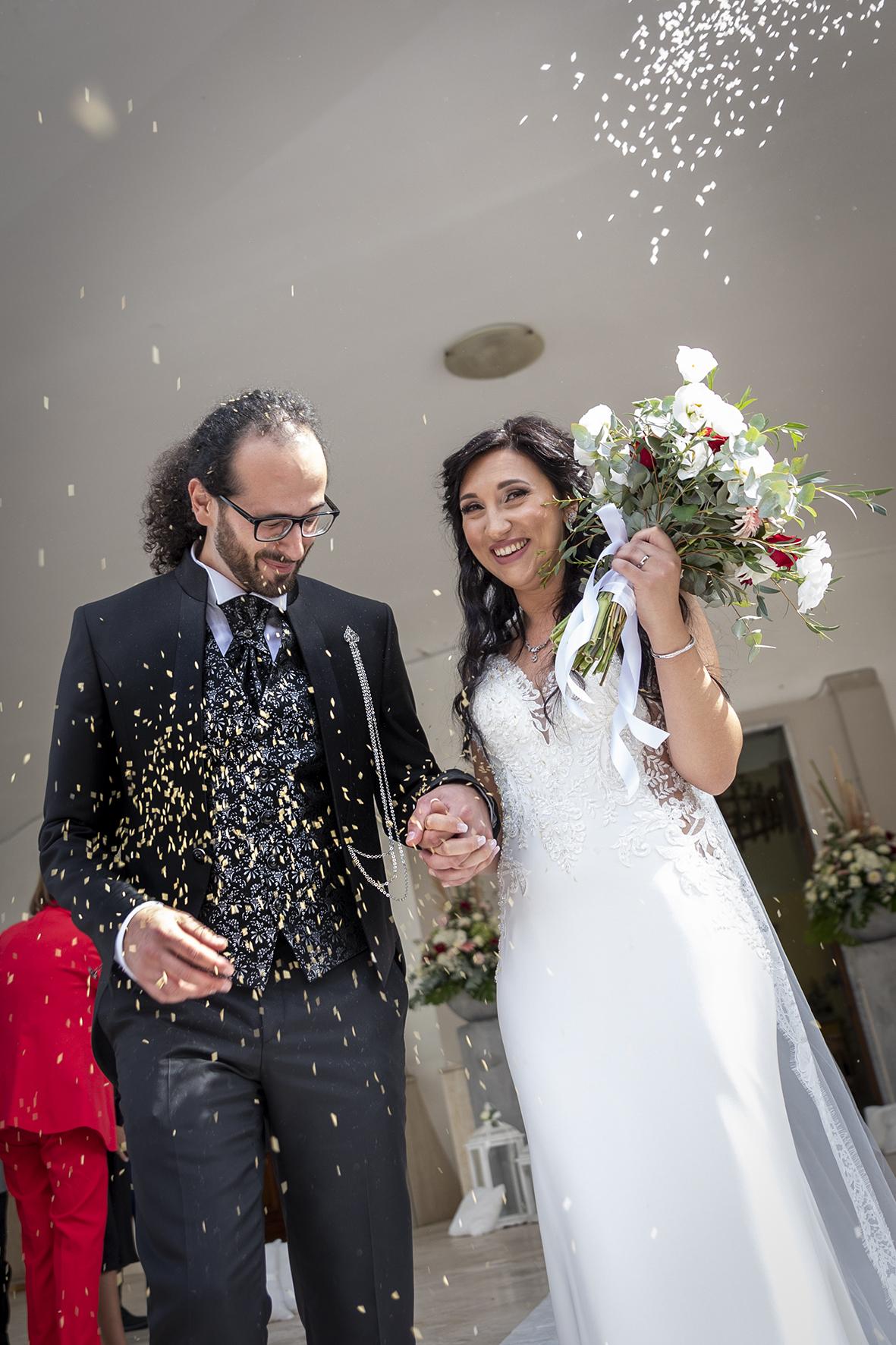 postproduzione foto di matrimonio da colore a bianco e nero