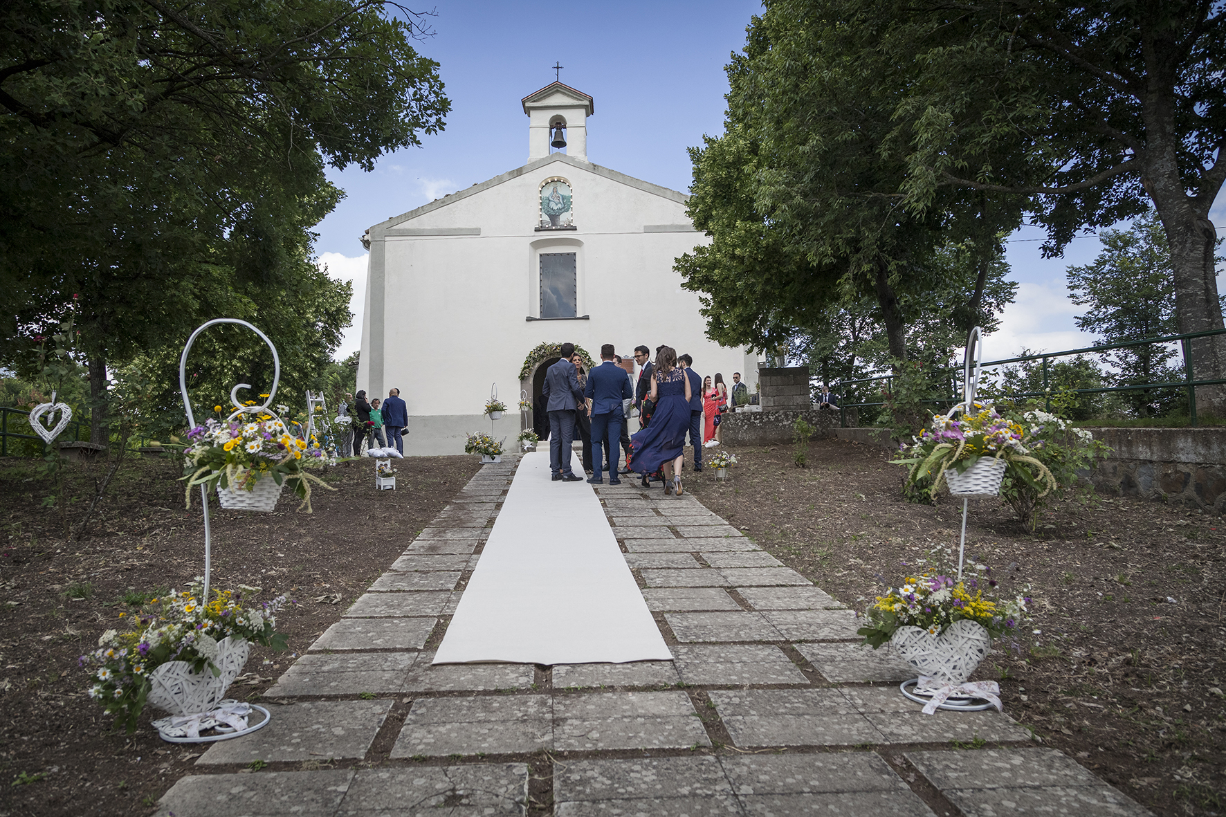 chiesetta di campagna matrimonio green