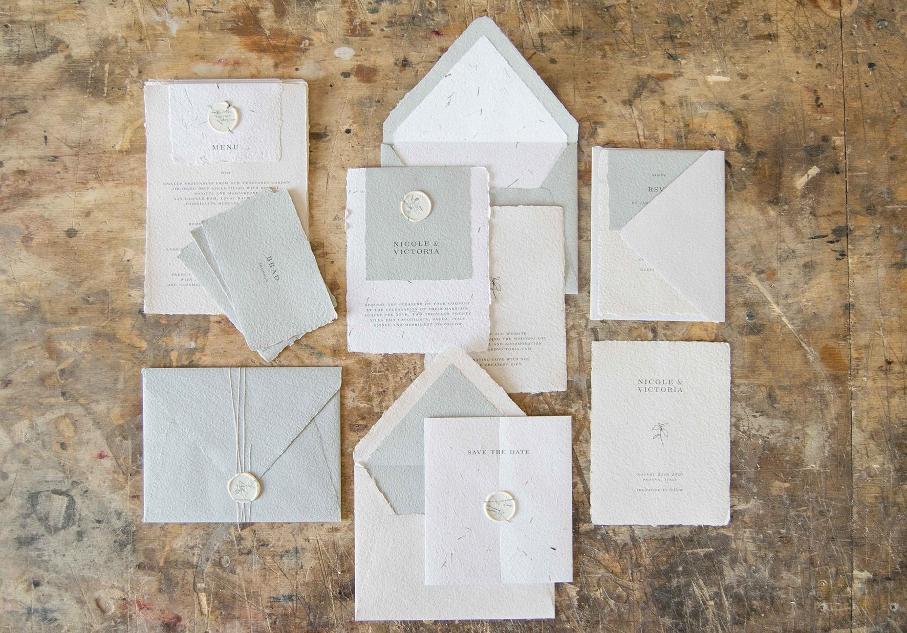 matrimonio sostenibile partecipazioni in carta riciclata