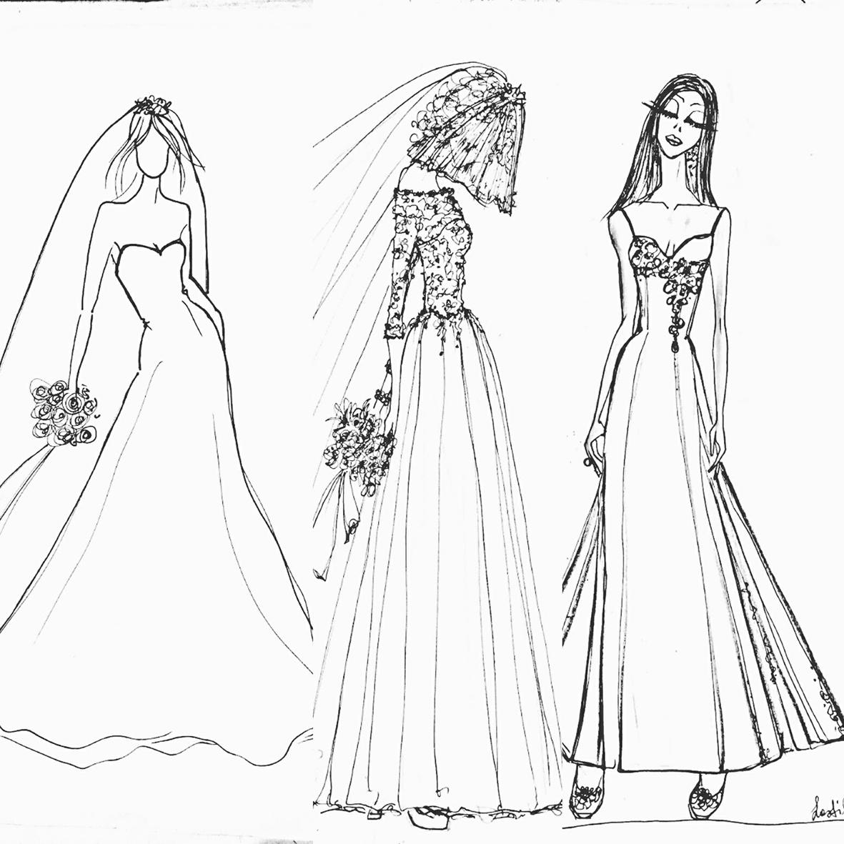 bozzetti abiti da sposa su misura