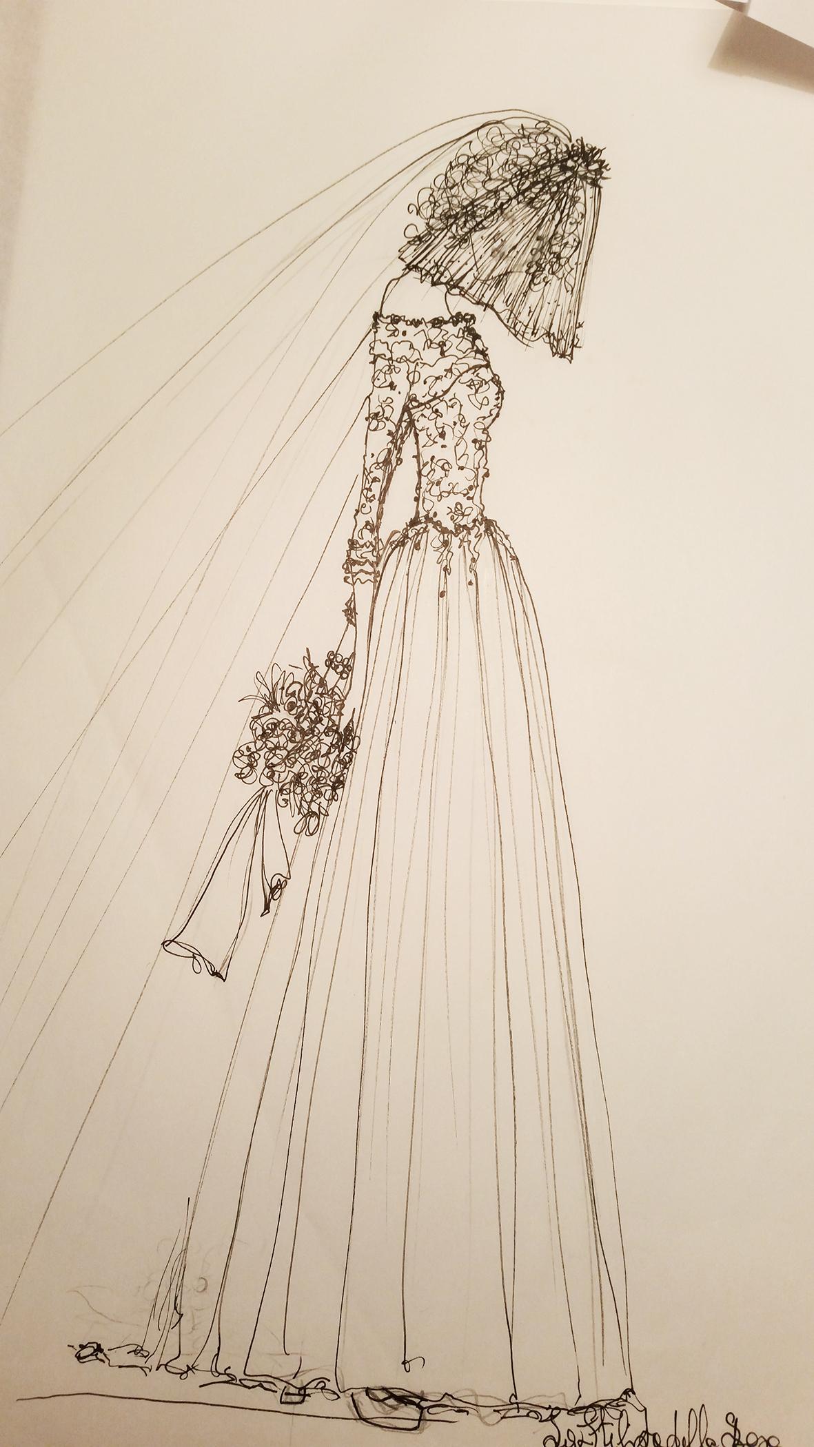 bozzetto vestito da sposa su misura daisy and co