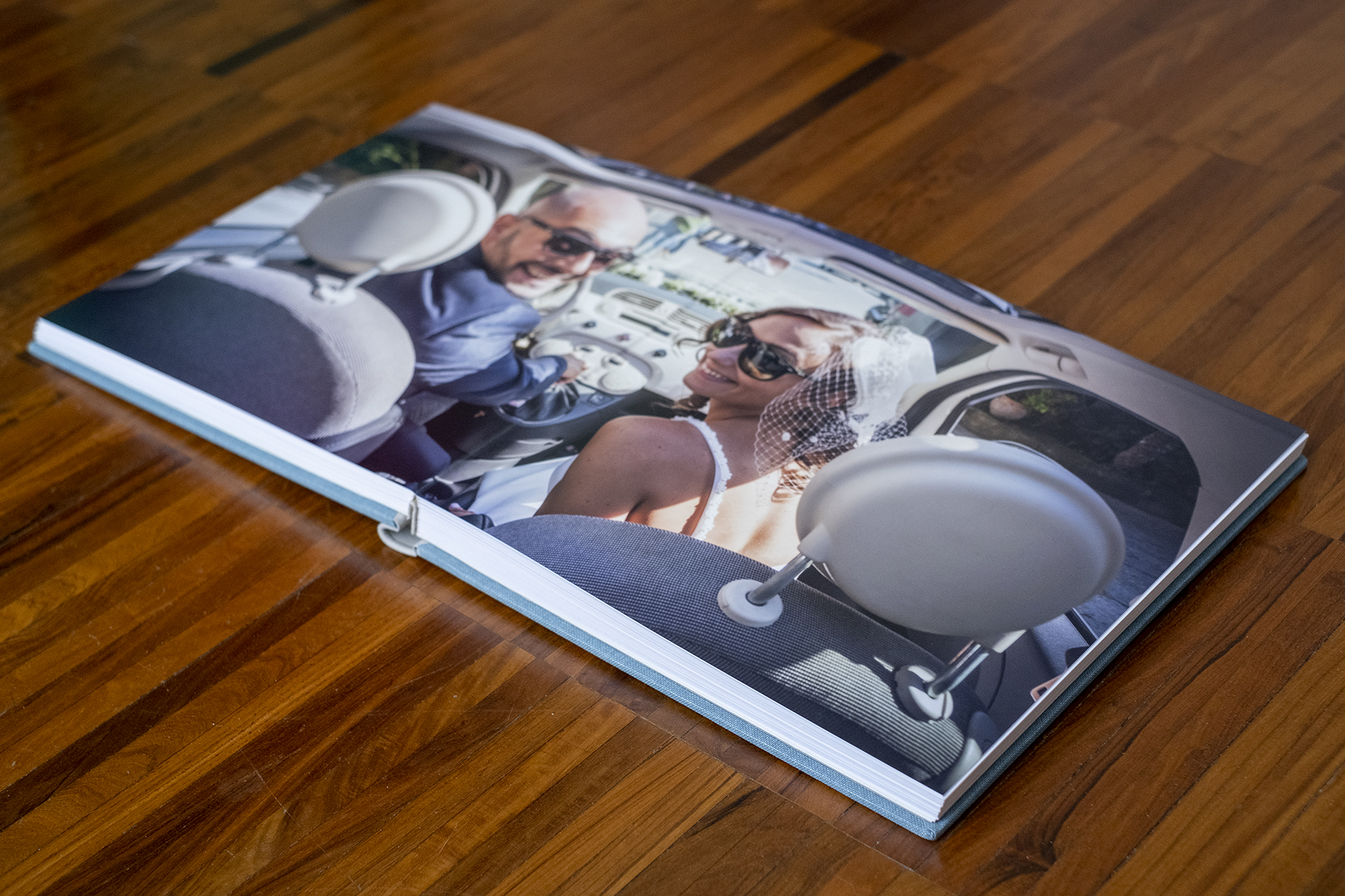 foto album digitale con rilegatura panoramica